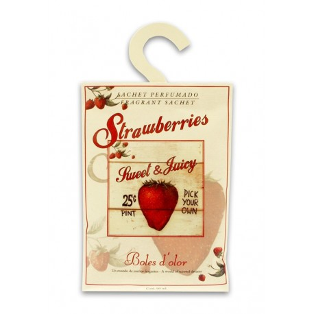 Ambientador Hogar- SACHET- STRAWBERRIES, Boles D`olor