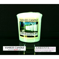 Yankee Candle VELA VOTIVA ALGODON , CLEAN COTTON