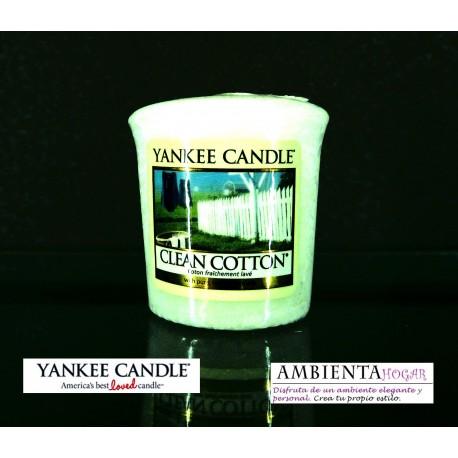 Yankee Candle VELA VOTIVA ALGODON , CLEAN COTTON