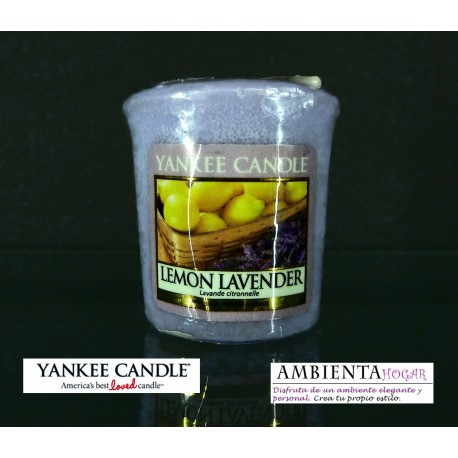 Yankee Candle VELA VOTIVA LIMON-LAVANDA,LEMON-LAVENDER