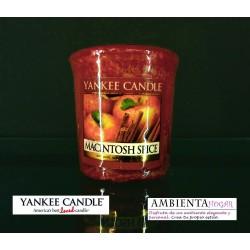 Yankee Candle VELA VOTIVA MANZANA-CANELA , MACINTOSH-SPICE
