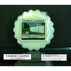 Yankee Candle TARTS, ALGODON , CLEAN COTTON