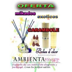 OFERTA MIKADOS FRUTOS EXOTICOS, CARAMBOLE , BOLES D`OLOR