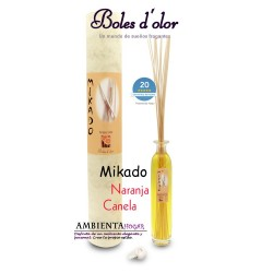Ambientador- Mikado Naranja canela, Boles d`olor.