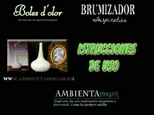 Ambientadores,Brumizador Inspiration, boles d`olor