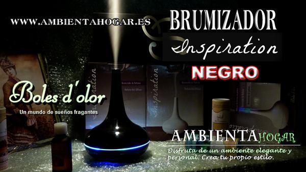 BRUMIZADOR INSPIRATION NEGRO, BOLES D´OLOR